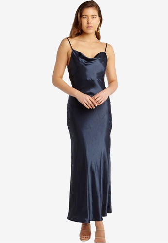 Bardot black Estelle Drape Dress A6965AA7A9E36DGS_1