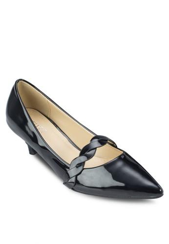 Natasha 編織帶尖頭中跟鞋,zalora 評價 女鞋, 厚底高跟鞋