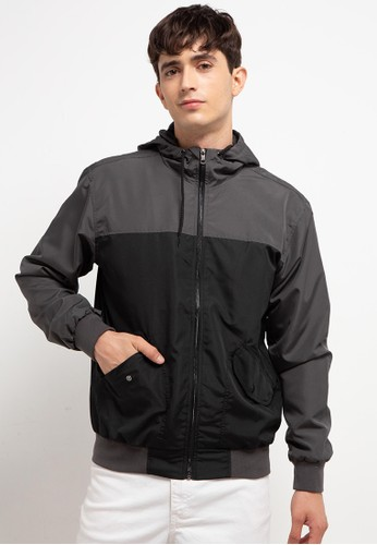 Country Fiesta grey Men'S Jacket Taslan 99E52AA40520B9GS_1