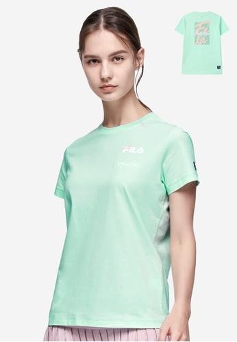 FILA green Athletics FILA HERITAGE Logo T-shirt F81B4AA18338F1GS_1