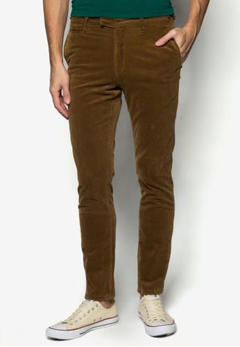 Dilla esprit 兼職燈芯絨貼身長褲, 服飾, 窄管褲