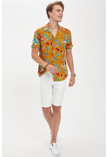 DeFacto white Slim Fit Cotton Denim Bermuda Shorts 4F718AAEB936ACGS_1