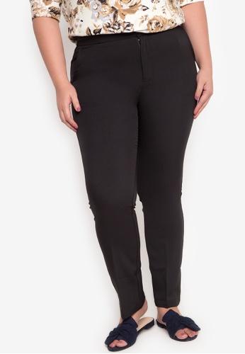 Curvy black Plus Size Caden Regular Straight Cut Trouser CU774AA74OOZPH_1