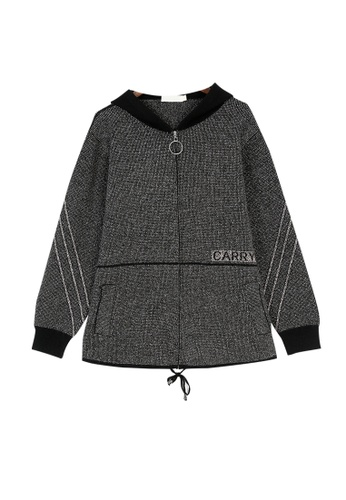 Its Me black Loose Hooded Warm Thick Knitted Jacket B6396AAD3BBEE1GS_1
