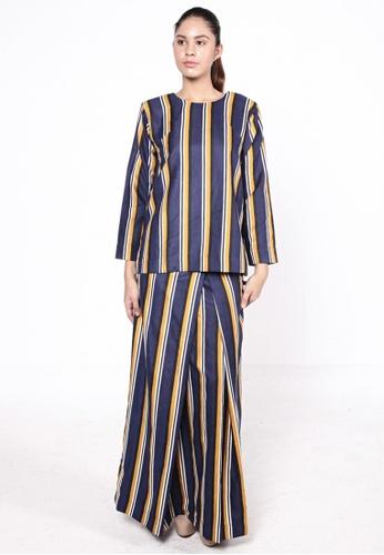 Tytta Kurung Stripes Yellow from HESHDITY in Yellow