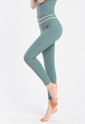 B-Code green ZYG3069-Lady Quick Drying Running Fitness Yoga Sports Leggings -Green 041CDAA4E3E219GS_1