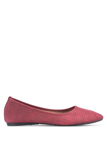 Louis Cuppers red Casual Flats LO977SH53BDAMY_1