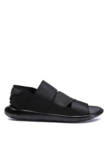Twenty Eight Shoes black Elastic Band Unique Platform Sandals VMS676 DEBD5SHDB09F54GS_1