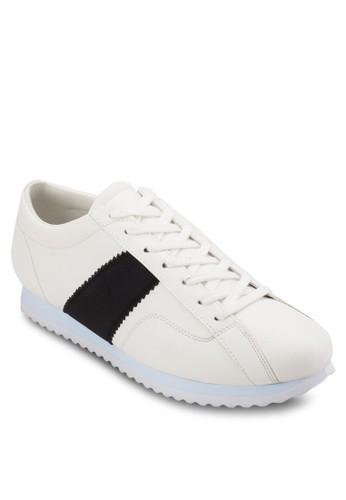 撞色條紋繫帶休閒鞋, 鞋,esprit暢貨中心 鞋