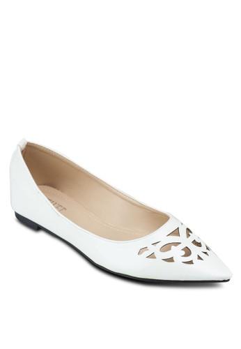 鏤空尖頭平底鞋, 女鞋, 芭蕾平zalora 順豐底鞋