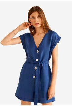 9740a01dca Mango blue Straight Short Jumpsuit 36BD7AAB2C8F76GS 1