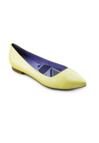 Flatss & Heelss by Rad Russel yellow Mischa Basic Flats FL655SH89YFESG_1