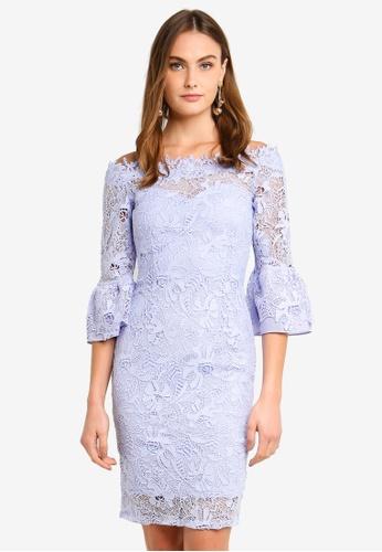 Paper Dolls blue Bardot Dress EC0BEAA9CB6AFEGS_1