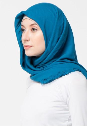 Aira Muslim Butik blue Scarf Foal Rawis AI892AA35XZSID_1