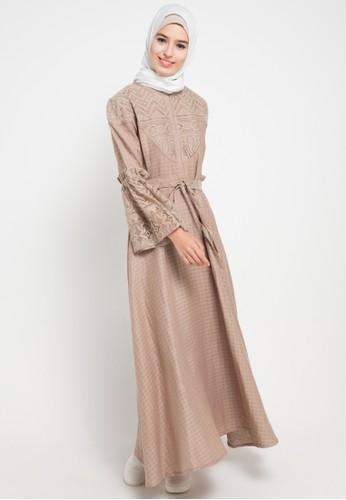 Lenajwa Laneesha Square Linen Jual Baju Muslim Wanita