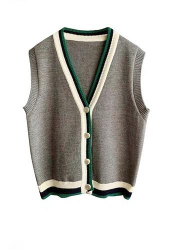 Twenty Eight Shoes grey VANSA Wool Vest Jacket  VCW-V01146 C4D9AAA5915DFDGS_1