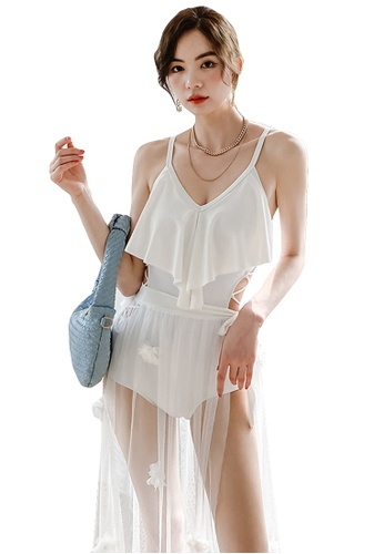 A-IN GIRLS white (2PCS) Sexy One Piece Bikini Swimsuit 51EFDUS43DD572GS_1