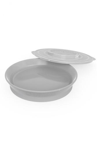 Twistshake Twistshake Plate 6+M Pastel Grey B63ADES4AFB40BGS_1