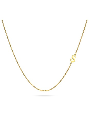 Bullion Gold gold BULLION GOLD Bold Alphabet Letter Initial Charm Necklace in Gold Tone - S B058AAC9CECFAAGS_1