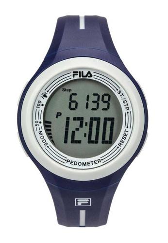 FILA Watches blue Fila Digital White and Blue Rubber Watch C7ED1AC5F26171GS_1