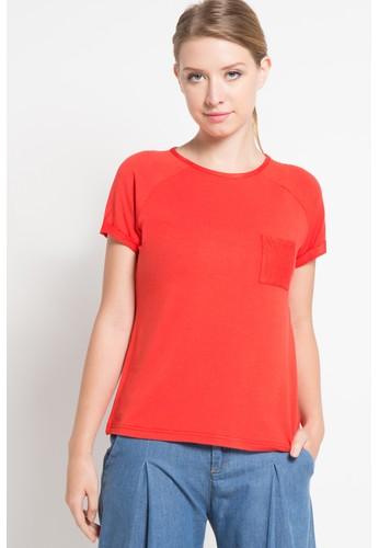 EDITION red Raglan Loose T-Shirt ED101AA29QZEID_1