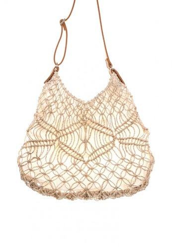Style Cat brown and beige Style Cat Segovia Macrame Bag 44F18AC522C8FCGS_1