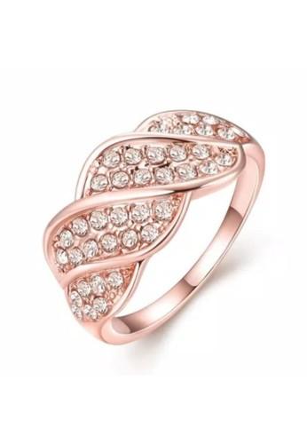 Tiaria pink Tiaria Gold Plated Ring Casual Fashion AKR022-8--K10 2121FAC088303EGS_1