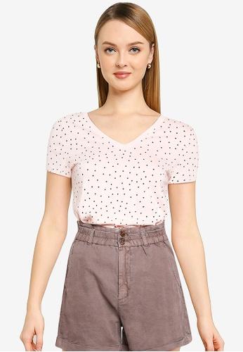 GAP pink Favorite Print T-Shirt 4ABD2AA013FF37GS_1