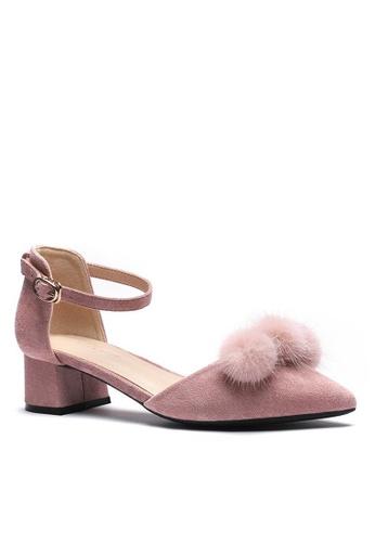 Twenty Eight Shoes Fur Ball Strap Mid Heel 166-31 7DF00SH58AB946GS_1