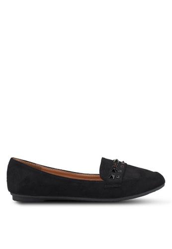 NOVENI black Studded Flats 69E94SHB66B37EGS_1