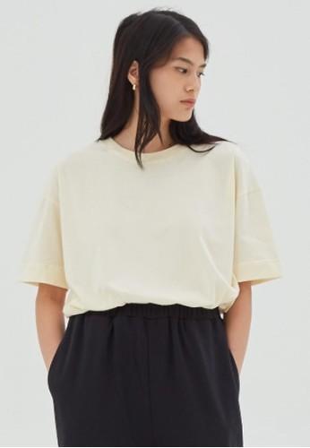 shopatvelvet beige Creme T-shirt 7358FAA96721B3GS_1