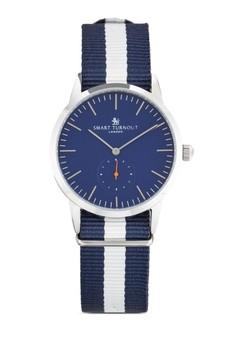 Signature Yale 條紋織帶錶帶手錶