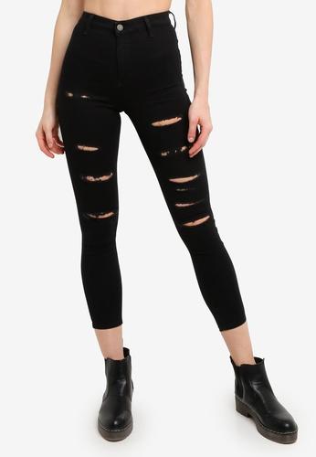 TOPSHOP black Black Super Rip Joni Jeans 2E465AADBE98CDGS_1