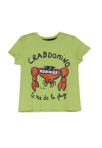 DU PAREIL AU MÊME (DPAM) yellow Short Sleeve T-Shirt With Front Print F45F5KA6B7DBCDGS_1