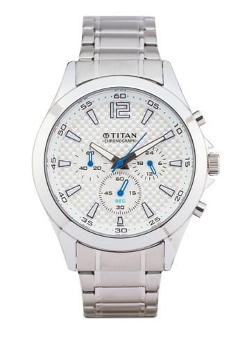 Titan 9323SM07 esprit服飾多錶盤金屬錶, 錶類, 紳士錶