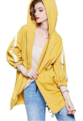 Twenty Eight Shoes yellow VANSA Mid-Length Style Wind Jacket VCW-T1409 C5C71AA0B36A37GS_1