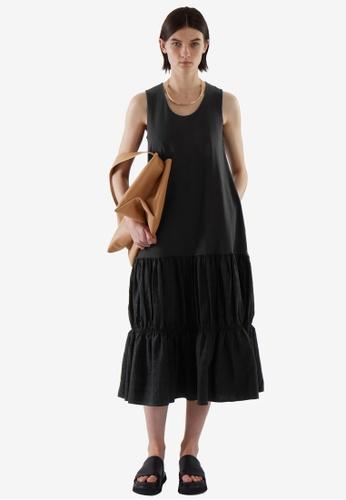 COS black Tiered Dress BDF0FAA7401ED2GS_1