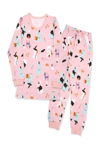 Organic mom pink Organic Girls Pink Homewear Casualwear Pajamas BF42EKA81FBC52GS_1