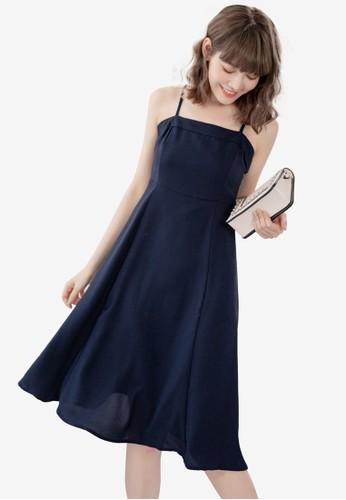 Eyescream blue Minimalist Flare Midi Dress 2391FAAFC3DE0CGS_1