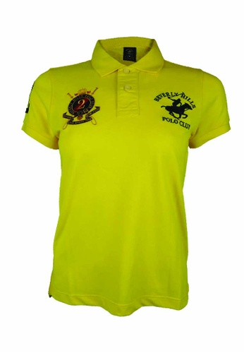 Beverly Hills Polo Club yellow BHPC Women Polo Short Sleeve Shirt 446E9AAB5ED551GS_1