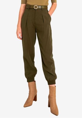 FORCAST green Everleigh Cuffed Pants 378B0AAEBC979AGS_1