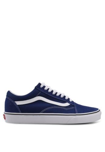 VANS white and blue Old Skool Sneakers VA142SH0SWRLMY_1
