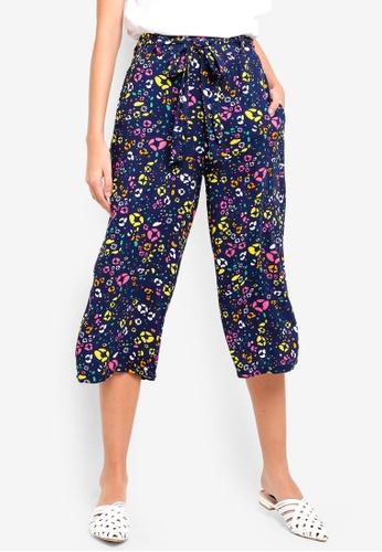 Supre blue and multi Crop Tie Waist Pants D0547AA5094511GS_1