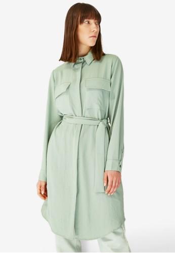 Trendyol green Tie-Waist Tunic Shirt 1D0B6AA17C959AGS_1