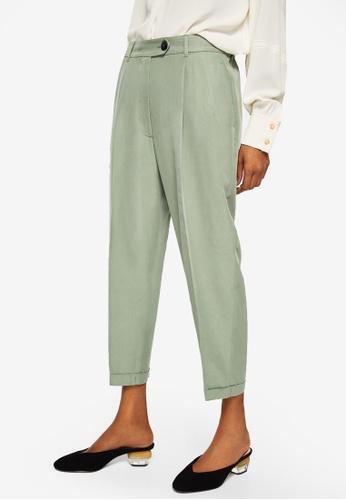 Mango green Modal Trousers 0B151AAFA6A655GS_1