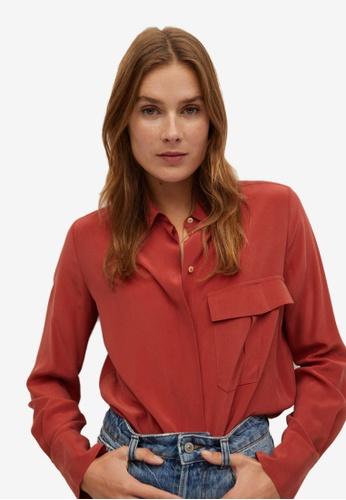Mango red Pocket Silk Shirt 23F4BAAD983518GS_1