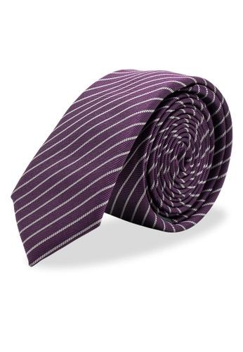 Arden Teal purple Braganca Skinny Silk Tie BC6CAAC5009E47GS_1