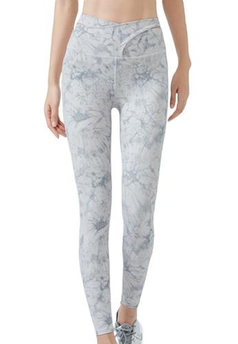 Sunnydaysweety white Floral High Waist Yoga Sports Tights A21031706W 93504AAD38DB41GS_1