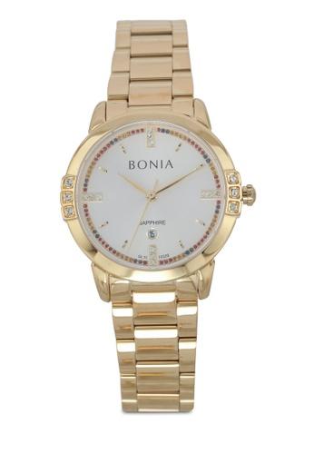 BONIA gold Bonia BNB10328-2217S Gold Stainless Steel Watch BO777AC0SE0ZMY_1