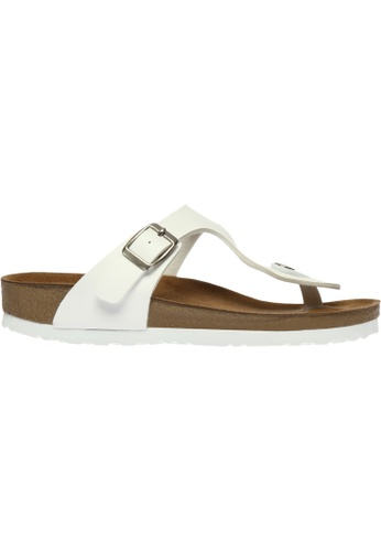 paperplanes white SNRD-217 Casual Summer One Belt Flip-Flop Sandals Shoes US Women Size PA355SH77QOKSG_1